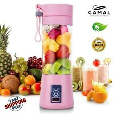 New 380ml 4/6 Blades Mini Portable Electric Fruit Juicer USB Rechargeable BEST