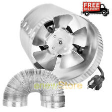 8 Inch 420 CFM Booster Inline Duct Vent Blower Exhaust & Aluminum Ducting Hose