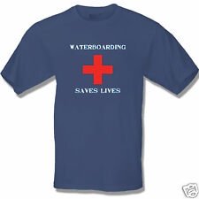 Anti Obama WATERBOARDING SAVES LIVES (BLUE) T Shirt