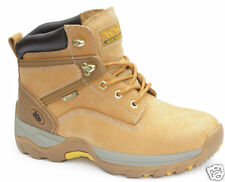 WOOD WORLD WATERPROOF STEEL TOE SAFETY WORK BOOTS Honey