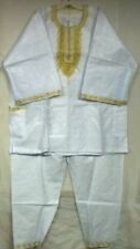African Clothing 3 PCs Pant Suit Brocade Outfit Apparel