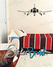 """Vinyl Wall Decal Sticker Front Fighter Jet 60"""" X 21"""""""