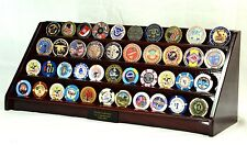 4 Row Military Challenge Casino Coin Display Rack stand