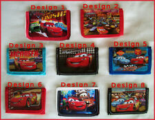 DISNEY CARS - Lightning McQueen - Tri-fold Kids Wallet - NEW - Choose Design