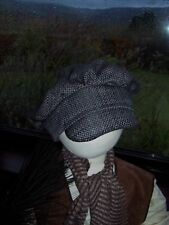 VICTORIAN/EVACUEE BAKER HAT GREY - FANCY DRESS COSTUME