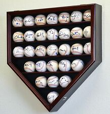 30 Baseball Display Case Wall Cabinet Holder Rack Cases