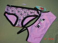 NWT Hannah Montana Medium Pink Black Underwear set