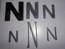 "Raw Metal Art Letter: ""N"" - Multiple Sizes and Fonts! COLOR AVAILABLE: Black"