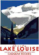 T58 Vintage Canada Canadian Rockies Lake louise Travel Poster A1 A2 A3