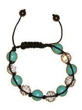 NEW (6218-1,2,3) crystal Hematite Water Pearl Turquoise beaded bangle