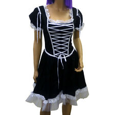 Phaze Clothing Gothic Lolita Wonderland Black Cotton Canvas Lace Up Dress