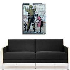 PREMIUM BANKSY CANVAS soldier search *MANY SIZES*