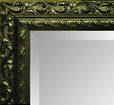 Large Black Decorative Ornate Carved Overmantle Wall Mirror - CHOOSE YOUR SIZE