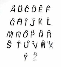 x10 SILVER PLATED LETTER ALPHABET CHARMS