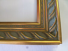 """2"""" Wide Gold Double Leaf Ornate Wood Picture Frame-Custom Made Panoramic Sizes"""