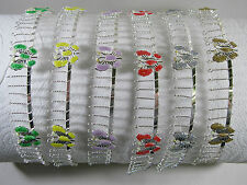 Glitter Butterfly Silver Toned Metal Comb Headband - Choose from 6 Colors
