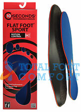 10 Seconds Flat Foot Sport Arch Support Insoles