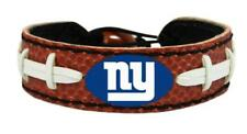 NEW YORK GIANTS CLASSIC FOOTBALL LEATHER LACES BRACELET NFL FOOTBALL
