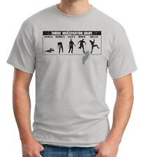 Know Your Zombies ID Chart Retro Michael Jackson Thriller Spoof Funny T-Shirt