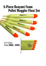 Set of 5 x Foam Pellet Waggler Floats, Carp, Commercial, Match Fishing (UKF11)