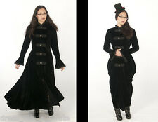 "DRESS LIKE A PIRATE SALE! STRETCH VELVET EDWARDIAN STEAMPUNK ""RHIANNON"" COAT"