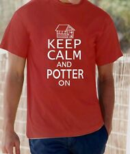 'Keep Calm and Potter on'  garden shed allotment t-shirt