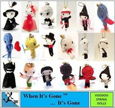 NEW STRING VOODOO DOLL KEYRING KEY CHAIN LOTS 2PIK FRM