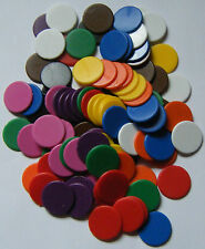 100 x 22mm Counters Choose from 10 Colours Board Games Tiddly Winks NEW