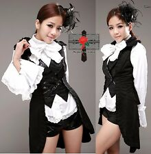 Retro Gothic Lolita Japan Samurai Killer Rock Slim Visual Kei Tuxedo Jacket Top
