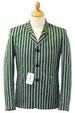 NEW RETRO INDIE MOD SIXTIES STRIPE Striped BOATING BLAZER JACKET Vintage SALE!