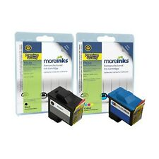 2 Remanufactured T0529 / T0530 Ink Cartridges for Dell Printers