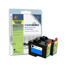 2 Remanufactured 7Y743 Black Ink Cartridges for Dell Printers