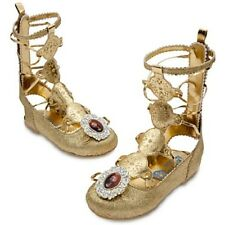 NWT DISNEY STORE BRAVE MERIDA GOLD GLADIATOR SANDALS COSTUME SHOES ALL SIZES