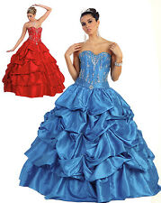 7 COLORS COCKTAIL BRIDESMAIDS HOMECOMING LONG PROM FORMAL DRESS BALL GOWN 4-20