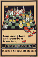 TX61 Vintage 1914 Underground Your Next House Move Travel Poster A1/A2/A3