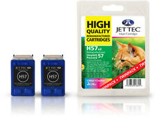 2 Remanufactured Jettec HP57 Colour Printer Ink Cartridges for 245xi & more