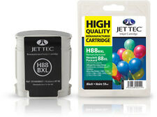 Remanufactured Jettec HP88 XL Black Ink Cartridge for Officejet Pro Printers