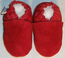 Moxiesbabyshoes RED SUEDE soft soled leather baby shoes 30-31 (4-5 ) or choose