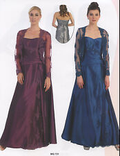 7 COLORS FORMAL EVENING GOWN MODEST MOTHER OF BRIDE GROOM DRESS SIZE M TO 5X NE