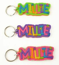 Girls name keyrings - names J-Z - key ring - various names and colours available