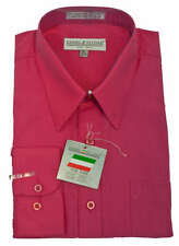 New Daniel Ellissa Mens Fashion Dress Shirt Pink Fuchsia, DS3001