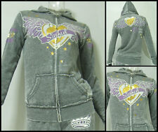 Affliction SINFUL womens Alto Burnout ZIP Hoody Hoodie S M L ~BRAND NEW~ S2237