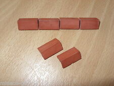 Dolls house roof tiles, Packet of 24 Angled Ridge -1:12th  4 Different Finishes