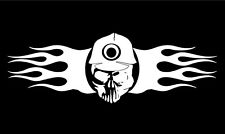 Skull Decal Caver Miner Head Flames Fire car truck window vinyl sticker graphic