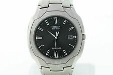 Citizen Men's BM6560-54H Eco-Drive Titanium Black Dial Date Watch