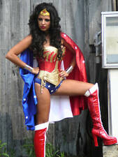 wonder woman costume star &stripe cape with upgraded brass items