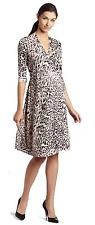 NEW EVERLY GREY MATERNITY Sexy Career LEOPARD PRINT WRAP DRESS Adjustable Sash