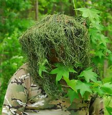 Sniper Ghillie Boonie Hat, Leafy Green color