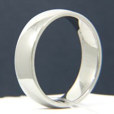 New Men's Stainless Steel 916L White Gold Plated Wedding Anniversary Band Ring