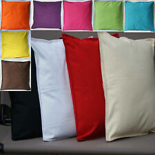 Cushion Covers Plain 100% Cotton Black White Cream Red